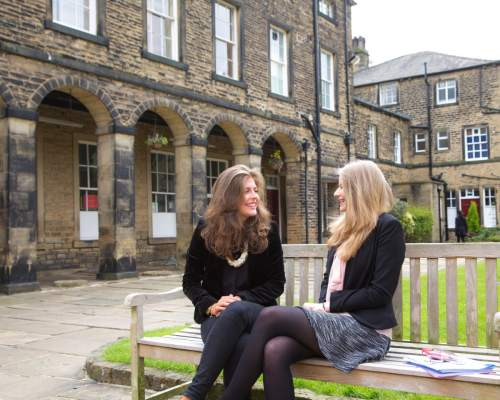 Two pupils at Rishworth Boarding School