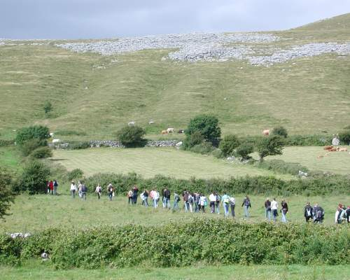Course participants during a hiking trip in Ireland