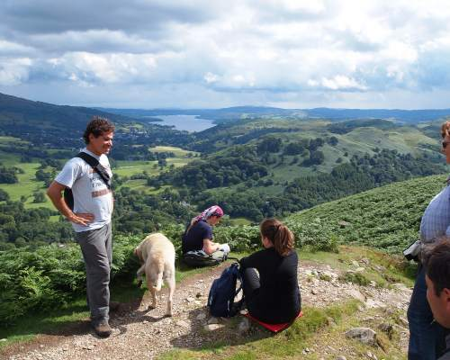 Course participants on a hiking trip in the Lake District