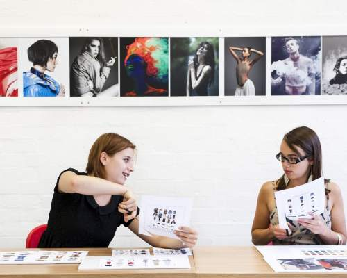 Fashion design course at the University of the Arts